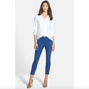 Treasure&Bond Blue Skinny Ankle Color Denim Jean 0